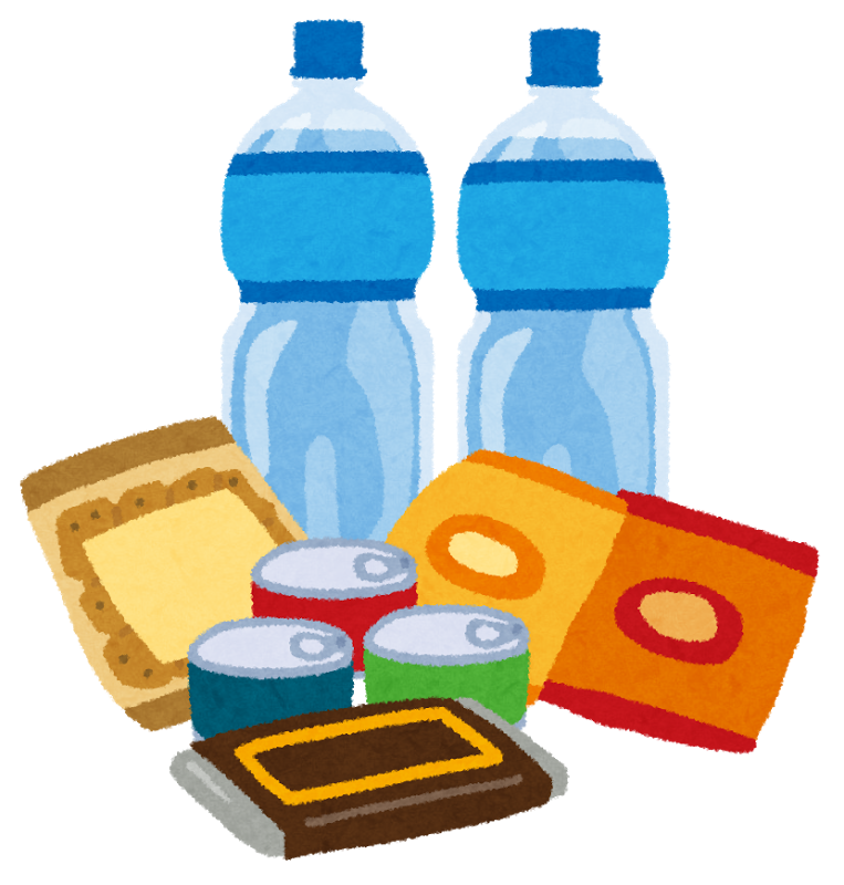 地震対策のために水と食料の備蓄をし、家具の状況を確認しましょう