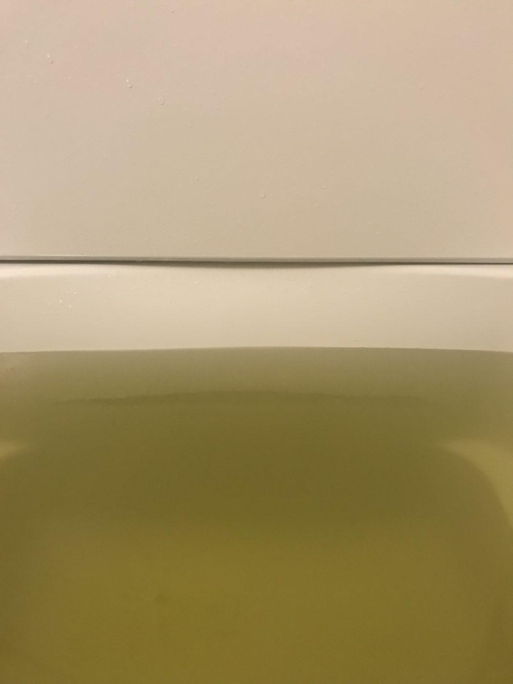 生薬のめぐり湯を入れたお湯