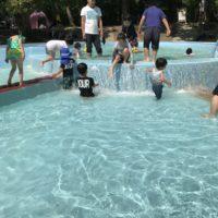 森林公園のじゃぶじゃぶ池は広い水遊び場!オムツの子も入れる?