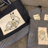 バムとケロの入園グッズを刺繍して作ってみました【ハンドメイド】!